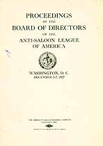 Thumbnail image of Anti-Saloon League 1927 Proceedings cover