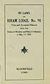 Thumbnail image of Hiram Lodge, F. & A. M. 1926 By-Laws cover