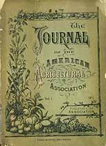 Thumbnail image of American Agricultural Assoc. Journal, Vol. 1, No. 1 cover