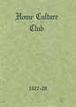 Thumbnail image of Home Culture Club 1927-28 cover