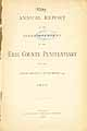 Thumbnail image of Erie County Penitentiary 1895 Report cover