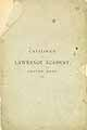 Thumbnail image of Lawrence Academy 1876 Catalogue cover