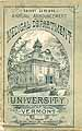 Thumbnail image of Univ. of Vermont Medical 1890 Catalogue cover