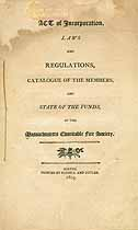 Thumbnail image of Massachusetts Charitable Fire Society 1805 Catalogue cover