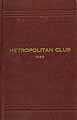 Thumbnail image of Metropolitan Club of N. Y. C. 1925 Roster cover