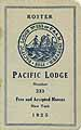 Thumbnail image of Pacific Lodge, F. & A. M. 1925 Roster cover