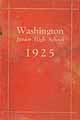 Thumbnail image of Washington Junior High 1925 Year Book cover