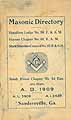 Thumbnail image of Sandersville 1909 Masonic Directory cover