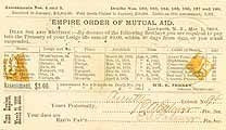 Thumbnail image of Empire Order of Mutual Aid May 1883 Notice cover