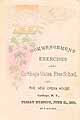 Thumbnail image of Carthage Union 1889 Commencement Exercises cover