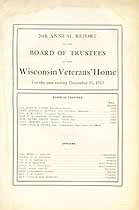Thumbnail image of Wisconsin Veterans' Home 1913 Report cover