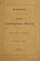 Thumbnail image of Warren 2nd Congregational Church 1891 Members cover