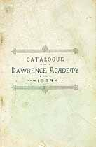 Thumbnail image of Lawrence Academy 1894 Catalogue cover