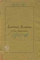 Thumbnail image of Lawrence Academy 1910-1911 Catalogue cover