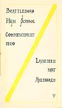 Thumbnail image of Brattleboro High School 1920 Commencement cover