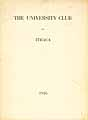 Thumbnail image of Ithaca University Club 1916 Program cover