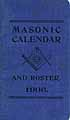 Thumbnail image of Ohio Regional Masonic Calendar and Roster for 1906 cover