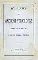 Thumbnail image of Ancient York Lodge, F. & A. M. 1904 By-Laws cover