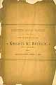 Thumbnail image of Knights St. Patrick of St. Louis 1886 Proceedings cover