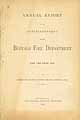 Thumbnail image of Buffalo Fire Department 1878 Report cover