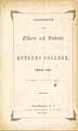 Thumbnail image of Rutgers College 1852-53 Catalogue cover