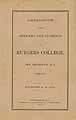 Thumbnail image of Rutgers College 1876-77 Catalogue cover