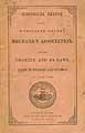 Thumbnail image of Worcester Co. Mechanics Assoc. 1861 By-Laws cover