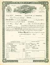 Thumbnail image of Greensburg Lodge, No. 148, K. of P. Membership Certificates (1886-1930) cover