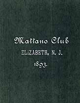 Thumbnail image of Mattano Club 1893 Roll of Members cover