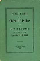 Thumbnail image of Paterson Police Department 1928 Report cover