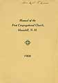 Thumbnail image of Haverhill First Congregational Church 1908 Manual cover