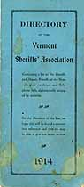 Thumbnail image of Vermont Sheriffs' Assoc. 1914 Directory cover