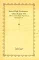 Thumbnail image of Jefferson Junior High 1933 Graduation cover