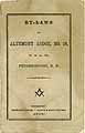 Thumbnail image of Altemont Lodge, F. & A. M. 1866 By-Laws cover
