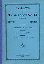 Thumbnail image of Solar Lodge, F. & A. M. 1924 Roster cover