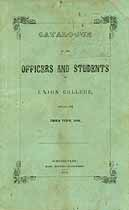 Thumbnail image of Union College 1856 Catalogue cover
