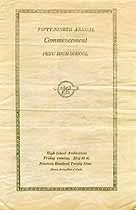 Thumbnail image of Peru High School 1929 Commencement cover