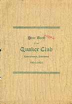 Thumbnail image of Tuscaloosa Quaker Club 1904-05 Year Book cover