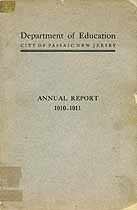 Thumbnail image of Passaic Dept. of Education 1910-11 Report cover