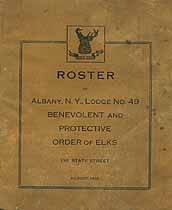 Thumbnail image of Albany Lodge, No. 49, B.P.O.E. 1918 Members cover