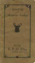 Thumbnail image of Muncie Lodge, No. 245, B.P.O.E. 1913 Roster cover