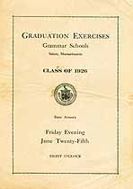 Thumbnail image of Salem Grammar Schools 1926 Graduation cover