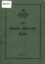 Thumbnail image of The Quebec Garrison Club 1925 cover