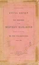 Thumbnail image of Western Railroad 19th Annual Report cover