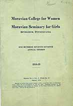 Thumbnail image of Moravian Schools 1918-19 Catalogue cover