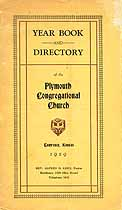 Thumbnail image of Plymouth Congregational Church 1929 Directory cover