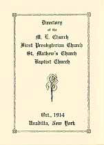 Thumbnail image of Unadilla Churches 1914 Directory cover