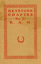 Thumbnail image of Keystone Chapter R. A. M. 1922 Members cover