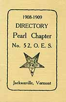 Thumbnail image of Pearl Chapter O. E. S. 1908-09 Directory cover