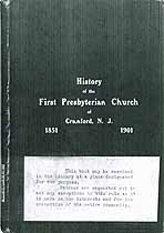 Thumbnail image of Cranford First Presbyterian Church 1901 Membership cover